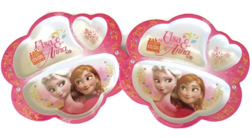 Disney Frozen Elsa & Anna Divided Plate ~ Set of 2 - 1