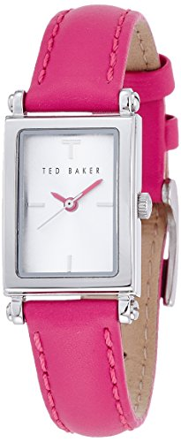 Ted Baker Rectangular Dial Leather - Hot Pink Women's watch #TE2116