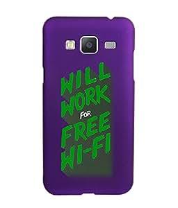 KolorEdge Back Cover For Samsung Galaxy J3 - Purple (5840-Ke15148SamJ3Purple3D)