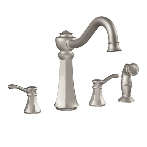 Moen 7068SRS Vestige Two-Handle High Arc Kitchen Faucet, Spot Resist Stainless (Moen Vestige Faucet compare prices)