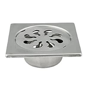 Metal square shaped floor drain strainer cover for 12 inch floor drain cover