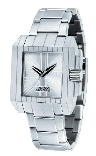 Mens British Flag Watch Stainless by London Undeground LU-151014-A