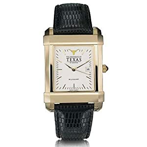 University of Texas at Austin Mens Swiss Watch - Gold Quad by M.LaHart & Co.