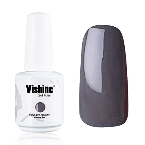 Vishine-Gelpolish-Lacquer-Shiny-Color-Soak-Off-UV-LED-Gel-Nail-Polish-Professional-Manicure-Dark-Grey1538