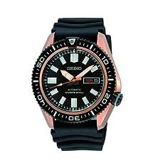 buy Seiko Men'S Skz330 Diver'S Black Rubber Goldtone Automatic Watch