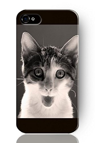 Sprawl New Fashion Design Hard Skin Case Cover Shell For Mobilephone Apple Iphone 4 4S--Grimaces Cat front-369379