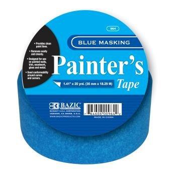 BAZIC Painter's Masking Tape, 20 Yards, Blue