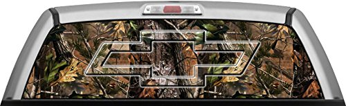 CHEVY - REAL TREE APG CAMO BACKGROUND GLASSVIEW by ITIGD : Truck Rear Window Decal Wrap (Real Tree Car Window Decal compare prices)