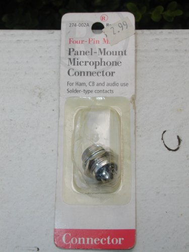 Radioshack 274-002A Four-Pin Male Panel-Mount Microphone Connector For Ham, Cb And Audio Use Solder-Type Contacts Radio Shack