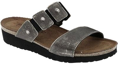 Naot Ashley Womens Comfort Sandals (8-8.5 B(M) US, Metal Leather)