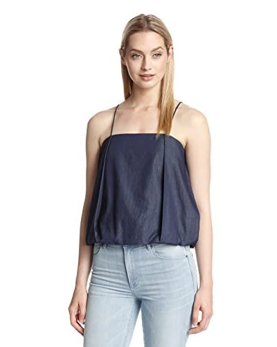 a.c.e. Women's Olivia Chambray Bubble Tank