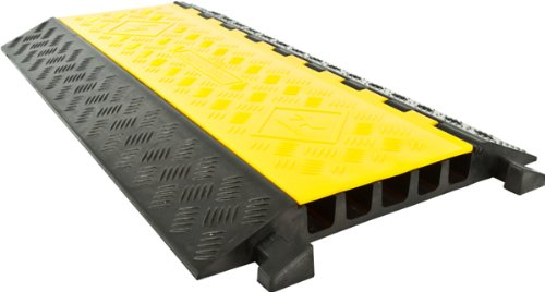 5-Channel Industrial Rubber Cable Ramp Straight