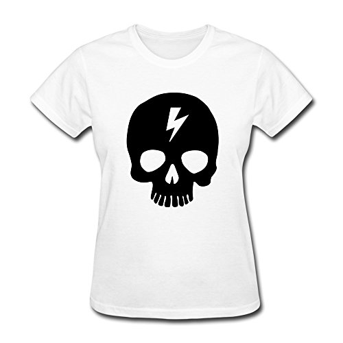 Lht Women'S Skull Cotton T-Shirt S White