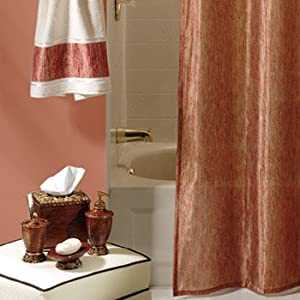 glimmer meadow sheer fabric shower curtain