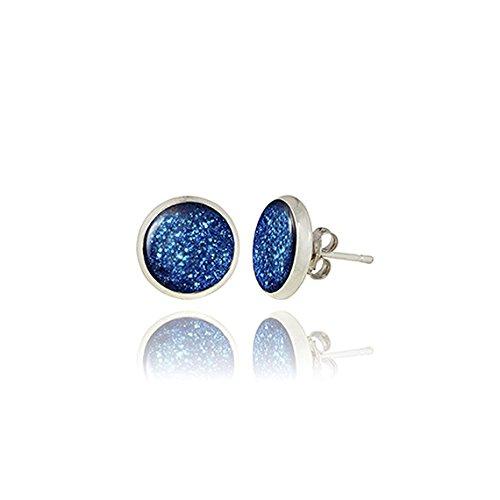 glitter-earrings-blue-silver-posts-by-dragon-porter