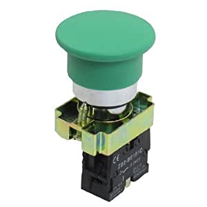 22mm NO Green Mushroom Momentary Push Button Switch 600V 10A ZB2-BC31