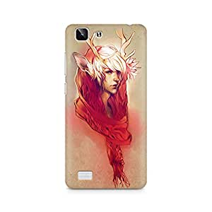 Mobicture Girl Abstract Premium Designer Mobile Back Case Cover For Vivo X5