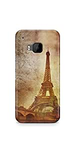 Casenation Eiffel Tower Vintage HTC One M9 Matte Case