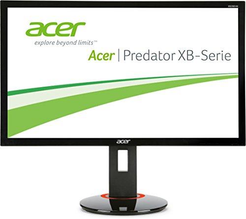 Acer XB280HKbprz 71,1 cm (28 Zoll) Monitor (Displayport, USB 3.0, 1ms Reaktionszeit, UHD, NVIDIA G-Sync, Höhenverstellbar, Pivot) schwarz
