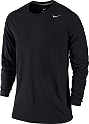 NIKE LEGEND DRI-FIT POLY LONG-SLEEVE CREW (MENS, BLACK) - L