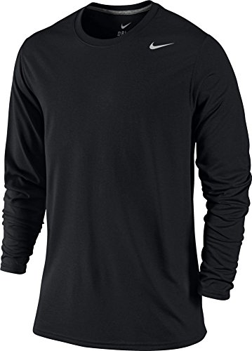Nike Legend Long Sleeve Dri-Fit Tee T-Shirt Training Black Size XL