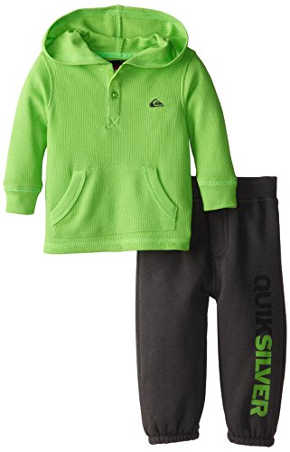 Quiksilver Baby-Boys Infant Thermal Green Hoody With Pull On Pants, Green, 18 Months front-706324