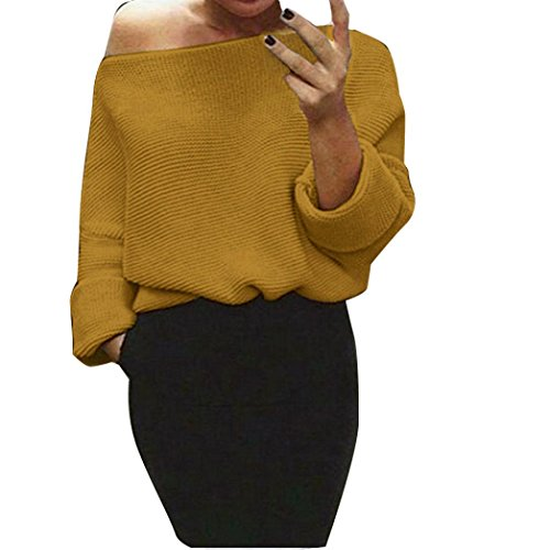 -femmes-pull-ularmor-epaules-chunky-tricote-enorme-bouffant-chandail-jumper-hauts-m-jaune