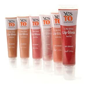 Yes to Carrots C Me Shine All Natural Lip Gloss - Red Hot
