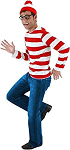 Elope Wheres Waldo Adult Costume Kit, Medium / Large