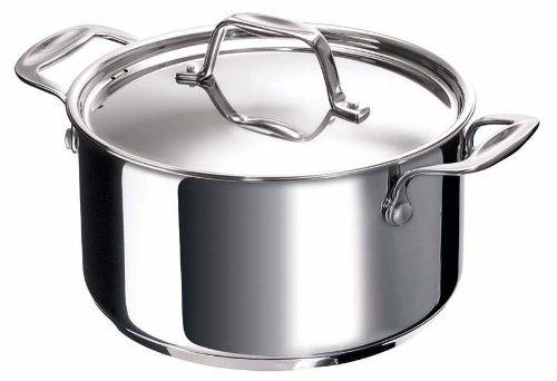 Bekaline 12061244 Chef Faitout + Couvercle en Acier Inoxydable de Haute Qualité Tous Feux + Induction 24 cm