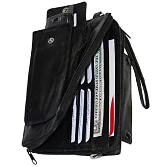 High End Leather Organizer Wallet & Cell Phone Case #102