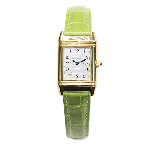jaeger-lecoultre-womens-reverso-green-leather-band-gold-plated-case-mechanical-analog-watch-q2661420