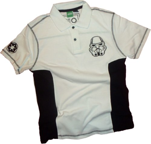 Stormtrooper Embroidered Logo -- Star Wars Adult Polo Sportshirt