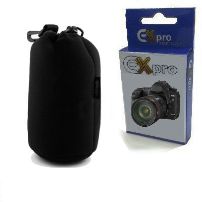 Ex-Pro® Soft Neoprene Lens Pouch Case Bag 105mm X 240mm (Medium)