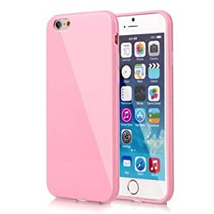 Studio-Y Premium Jelly Case Soft Slim for iPhone 6/6S (4.7)- Crystal Pink