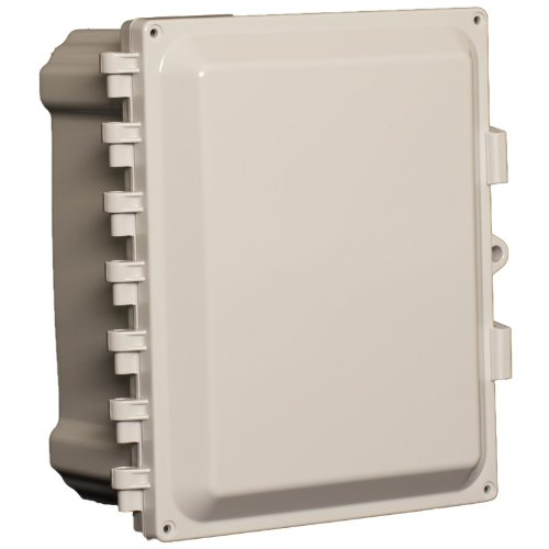 """Attabox Ah1084 Polycarbonate Enclosure With Hinged, Locking, Opaque Cover, 10"""" Height, 8"""" Width, 4"""" Depth - 10X8X4"""