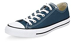 Converse Unisex Turquoise Canvas Sneakers - 3 UK