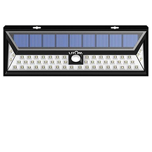 Litom Solarleuchten, 54 LED mit 120° Weitwinkel Bewegungs Sensor Wandleuchte Wasserdichte Außen,...