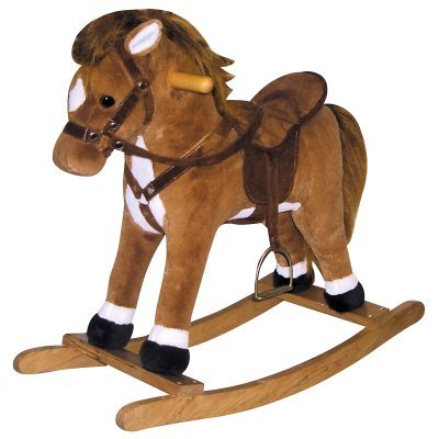 Charm Company Coffee Horse Rocker With Sound front-334614