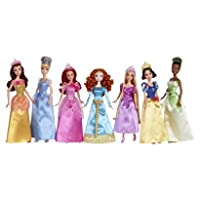 Ultimate Disney Princess Collection 7 Pack Belle Cinderella Ariel Merida Rapunzel Snow White Tiana from Mattel