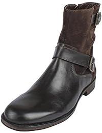 Salt N Pepper BLACK / BROWN Leather Boots For Men's