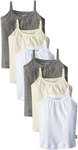 Burt's Bees Baby-Girls Newborn Set Of 6 Camisoles , Natural, 18 Months