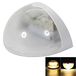 N760B 6-LED Warm White Light Waterproof Wall Mounted Solar Lamp with Human Body Induction / Voice Control