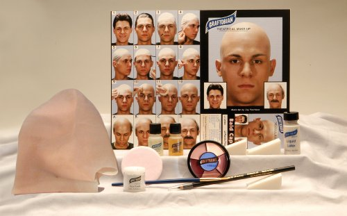 Lets Party By Graftobian Professional Bald Cap Complete Kit / White - Size One - Size