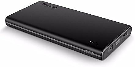 EasyAcc Colorato 10000mAh Batteria Esterna Portatile Caricabatterie per iPhone Samsung Smartphones Tablets - Nero e Grigio