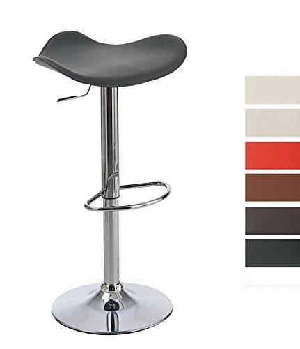 CLP-Design-Barhocker-SALZBURG-bis-zu-7-Farben-whlbar-hhenverstellbar-58-80-cm-mit-dynamisch-geformten-Sitzflche-schwarz