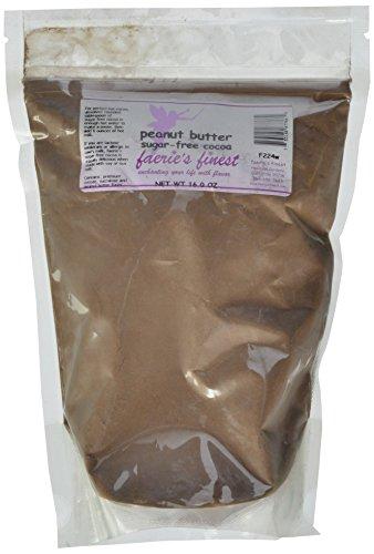 Faeries Finest Sugar-Free Cocoa, Peanut Butter, 16 Ounce