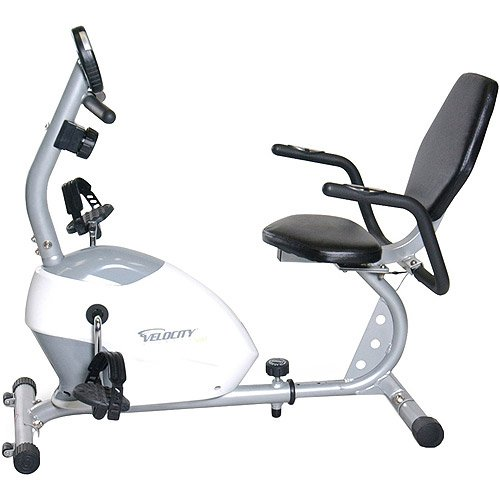 Exercise machine Recumbent Bike, 2-way flywheel, smooth ride, display tracks