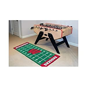 Fanmats Wisconsin Badgers ootball Field Runner by Fanmats