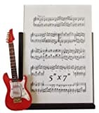 """Red Electric Guitar Music Musical Instrument 5"""" x 7"""" Picture Photo Frame"""